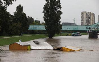 Sava prije tjedan dana (foto: Saša Zinaja /Medijska mreža)