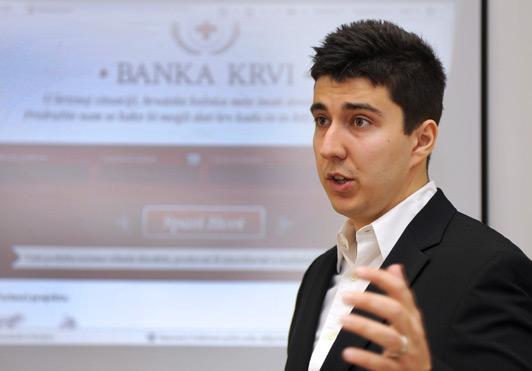 Martin Birač, autor projekta Banka krvi (Foto: Damir Krajac /CROPIX)