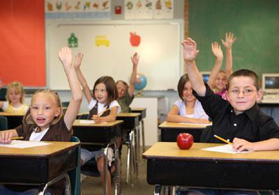 djeca u školi, ilustracija
