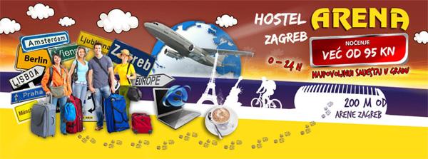 Hostel Arena na stranici Holdingove Podružnice Vladimir Nazor