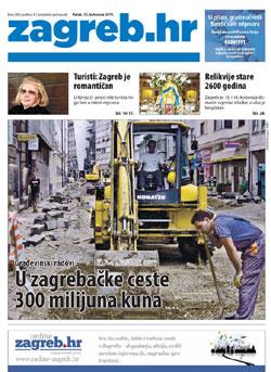 naslovnica novina Zagreb.hr
