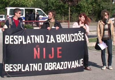 studenti prosvjeduju