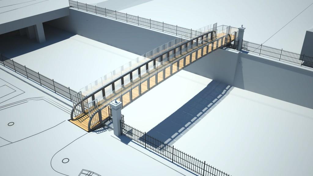 Počeli radovi na izgradnji pješačkog mosta preko Miramarske ulice
