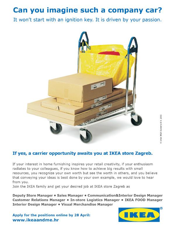 Ikea natječaj potražite na njihovim web stranicama