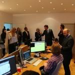 Saša Cvetojević pokazuje dio opreme  sufinancirane od Poduzetničkog impulsa