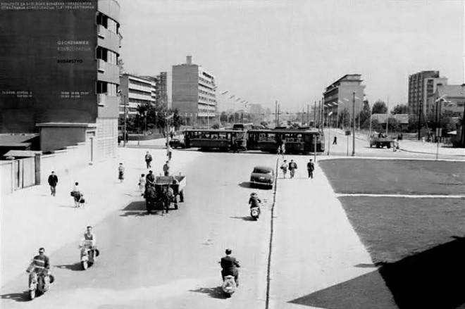 "Foto: Facebook stranica ""Zagreb nekada"" prikazuje križanje Savske i Vukovarske (1960.)"